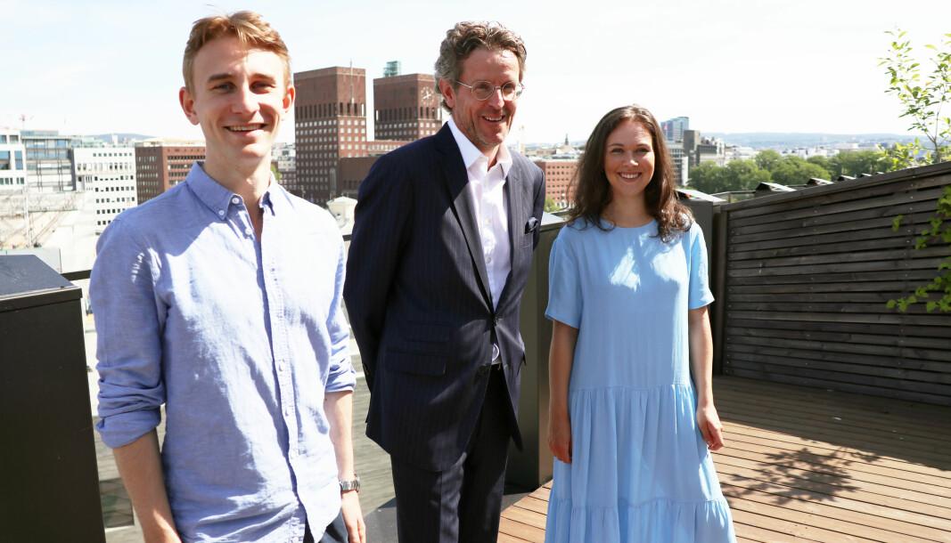 Aksjonssjef Jon-Christian Rynning, partner Stephan Jervell og årets aksjonsleder Maria Hansteen er glade for at det blir aksjon også i år.