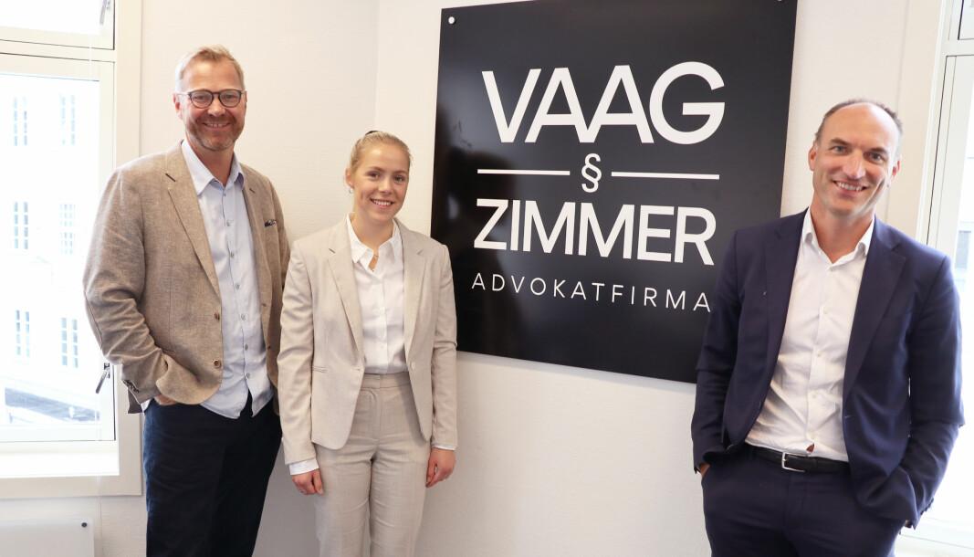 Denne uken startet partner Per Zimmer, advokatfullmektig Mari Dekkerhus, og partner Kai Vaag opp nytt advokatfirma i Oslo sentrum.