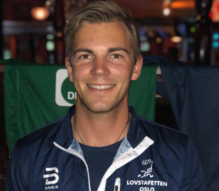 Jusstudent Henrik Aandstad ga alt, og sikret seg flest kilometer i løpet. Aanstad har for øvrig en deltidsstilling som studentsekretær i Wiersholm ved siden av jusstudiet.