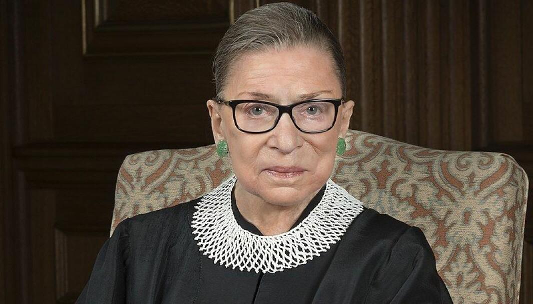 Ruth Bader Ginsburg døde fredag.