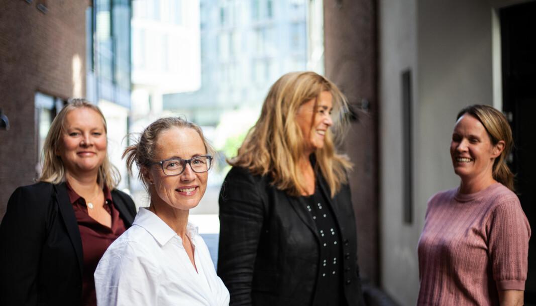 Cecilie Wetlesen Borge (foran) startet nylig som partner i Berngaard. Her med kollegene (f.v.) Elin Mathisen, Inger Roll-Matthiesen, og Christine Lie Ulrichsen