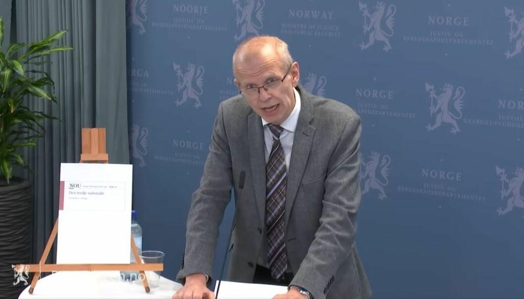 Yngve Svendsen på pressekonferansen onsdag