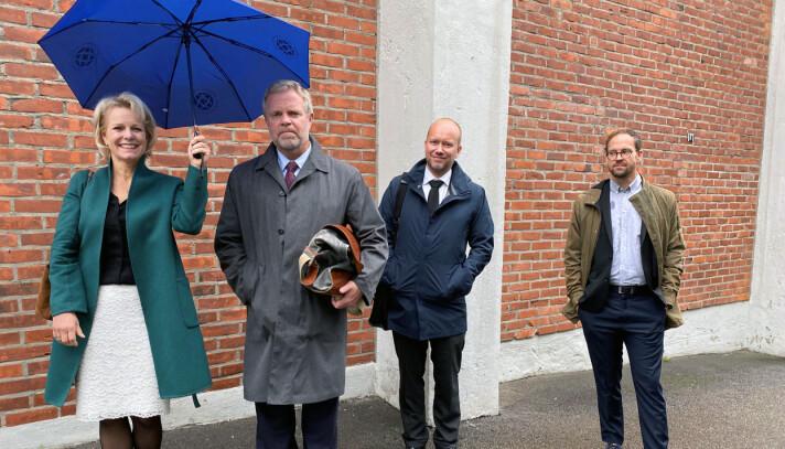 Advokatforeningens generalsekretær Merete Smith, leder Jon Wessel-Aas, advokat Øyvind Precht-Jensen og politisk rådgiver Martin Kaasgaard Nielsen møtte representanter fra Justis- og Beredskapsdepartementet tirsdag denne uken.