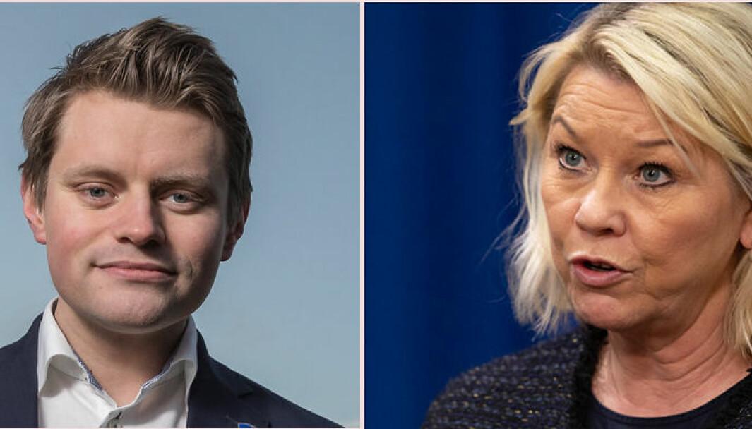 Stortingsrepresentant Peter Frølich og justisminister Monica Mæland.