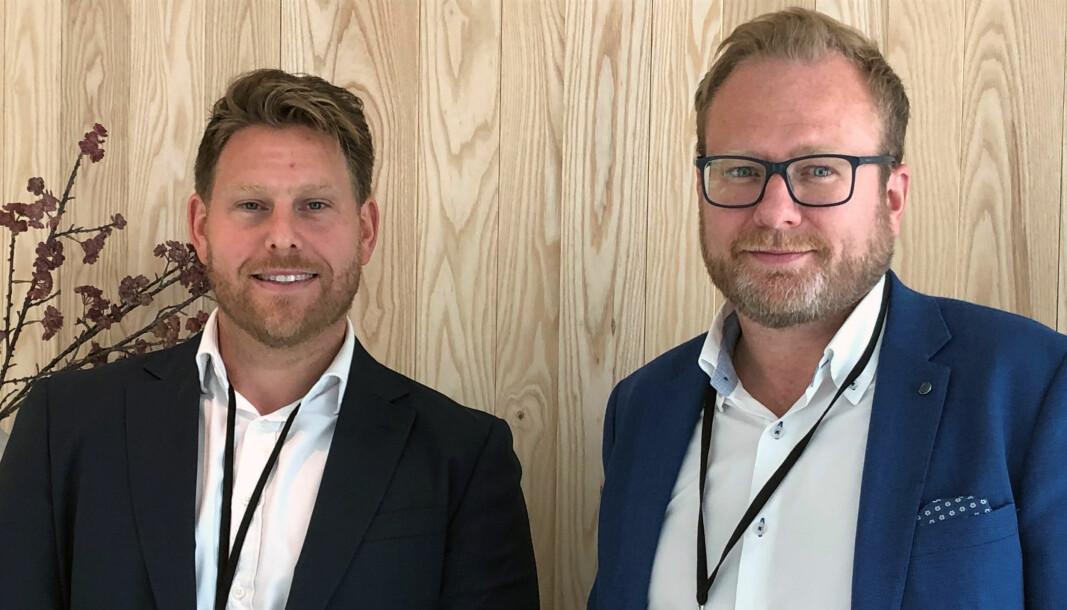 – Med advokatforsikringen når vi et segment som pr. i dag ikke bruker advokat. Vår forhåpning er at kundene i færre situasjoner skal havne i tvist, sier William Gelber Bugge og Thor Arne H. Ljøsterød.