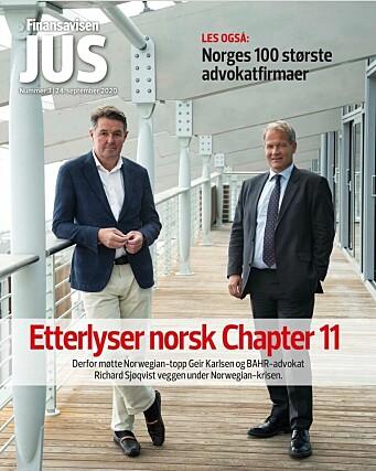 Finansavisen JUS presenterte sin årlige oversikt over landets 100 største advokatfirmaer tidligere i høst.