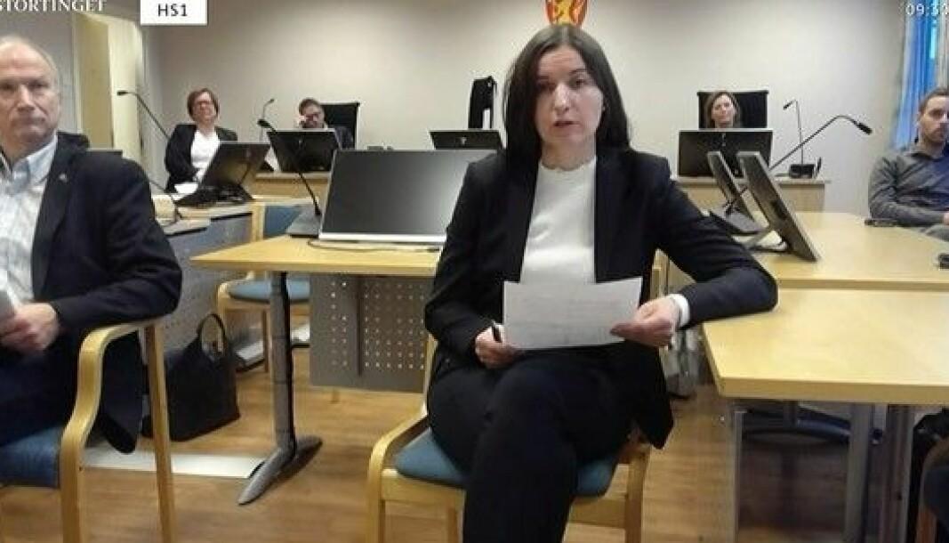 Advokat Hanne Elise Skare deltok i høringen fra Vesterålen tingrett