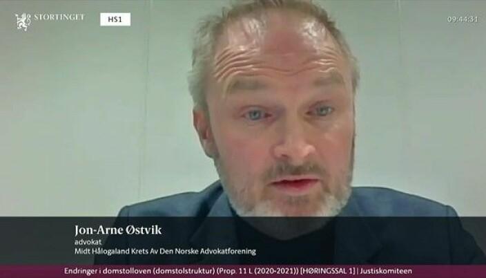 Advokat Jon Arne Østvik fra Midt-Hålogaland krets.
