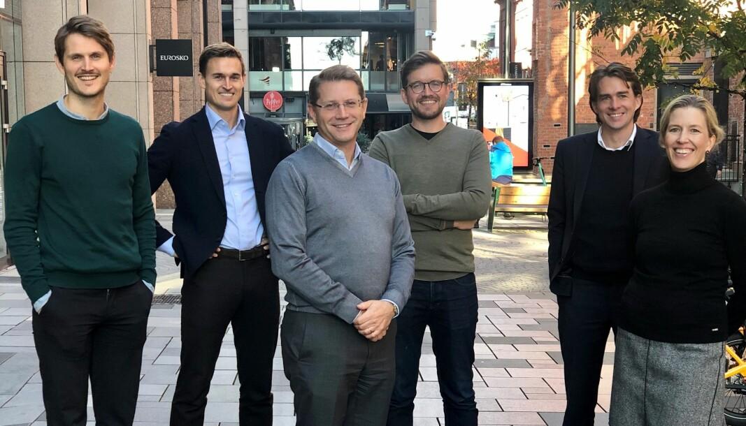 Kluge-advokatene Mikkel Østhagen Hamar, Matias Apelseth, Reidar Sverdrup, Henrik Nordling, Ronny Rosenvold og Eeva Kantanen ser alle frem til det nye samarbeidet.