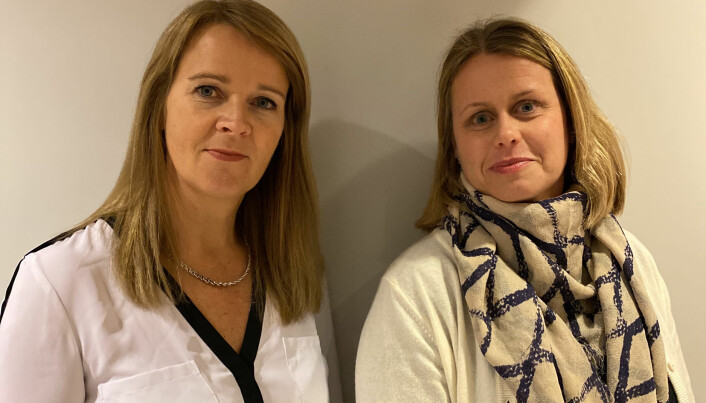 Magnhild Pape Meringen og Katharina Angvik Hjelmaas frykter for rettssikkerheten i Kristiansund.