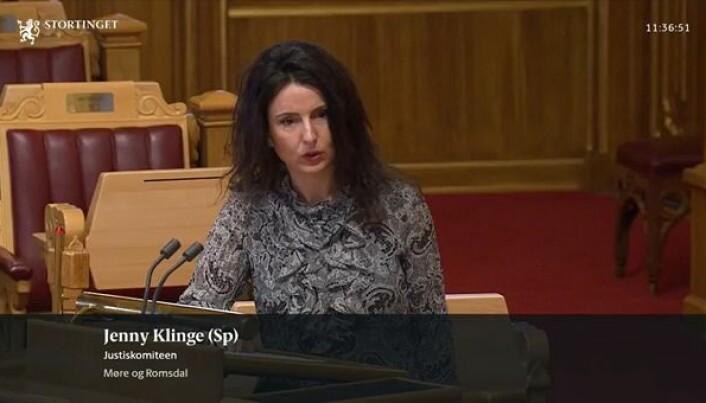 Senterparti-politiker Jenny Klinge er kritisk til den nye domstolreformen.
