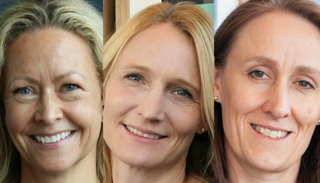 Gry Hvidsten, Hanna Beyer Olaussen og Hanne Zimmer ser frem til å tre inn i partnerskapet i Wikborg Rein.