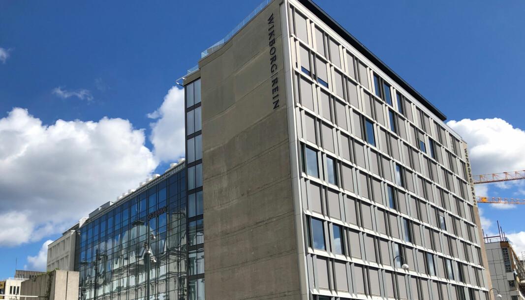 Denne høsten kan medarbeiderne i Wikborg Rein bli noe mindre å se på kontoret, som her i Vika i Oslo.