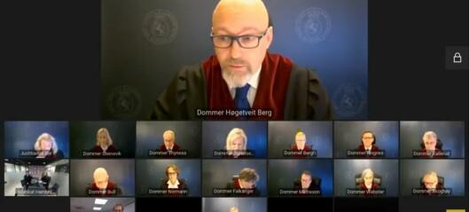 - Domstolene kan bare sette Stortingets vedtak til side ved grov pliktforsømmelse
