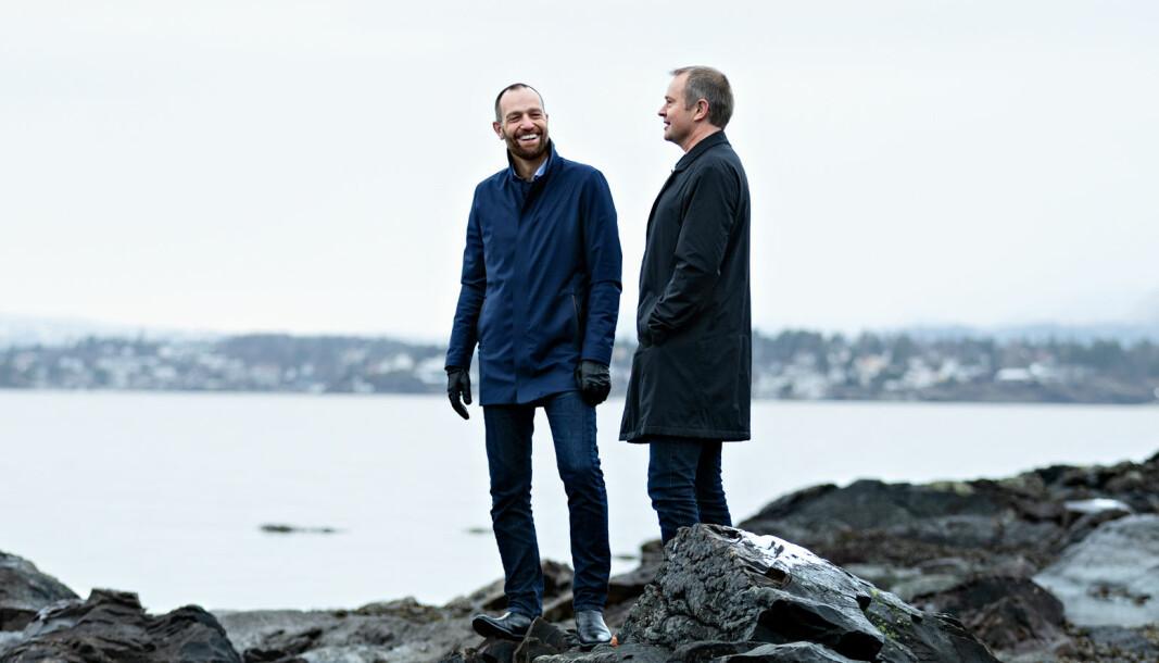 Frode Støle og Jens Naas-Bibow ser frem til å hjelpe kundene fra sitt nye firma 1,5.