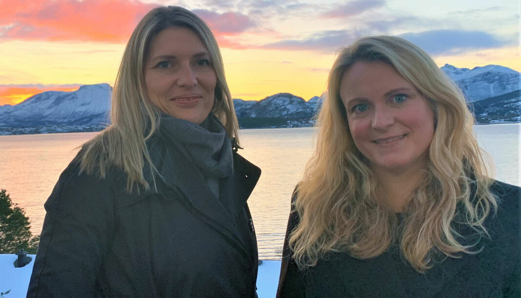 Kristine Devold (t.v.) og Elisabeth Voldsund gleder seg over å være i gang med sitt nye advokatfirma