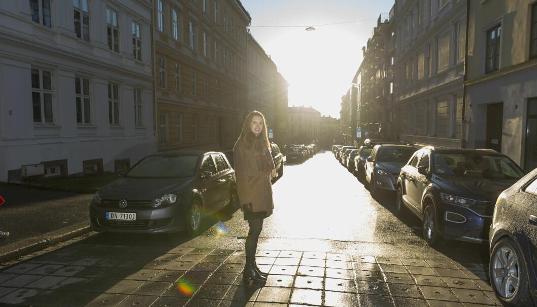 - Jeg prøver å få meg en tur ut før jeg starter å jobbe hver dag, sier Thommessen-fullmektig Ingrid Skjelmo.