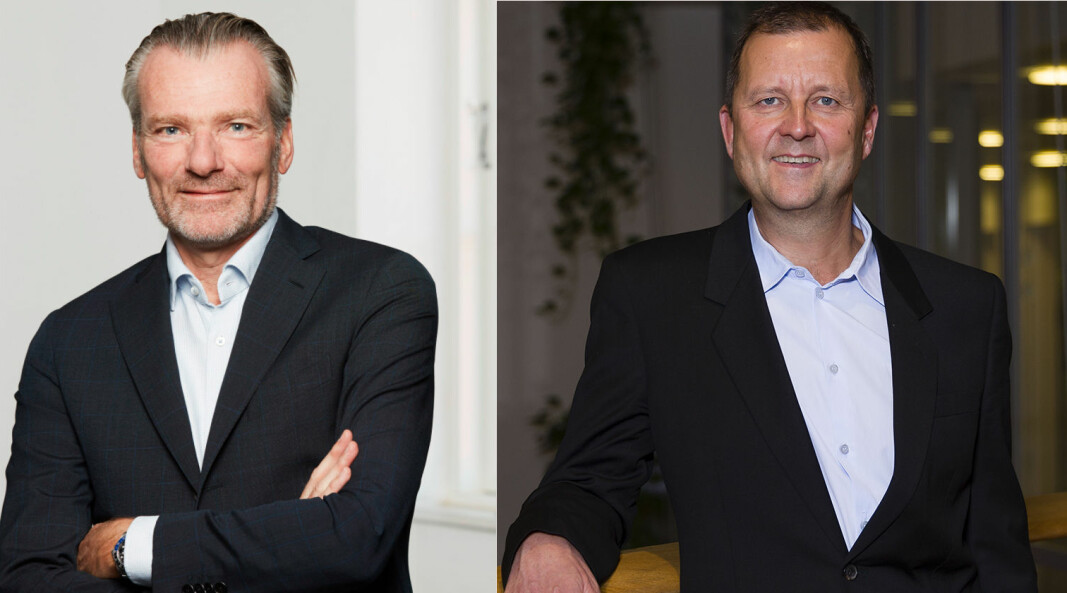 Danmarks Advokatsamfunds styreleder Peter Fogh og Help-sjef Johan Dolven har ulike oppfatninger om en analyse av konkurransen i dansk advokatbransje.