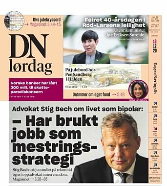 Faksimile fra Dagens Næringsliv lørdag 19. desember 2020.