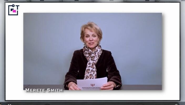 - Den beste måten å møte morgendagens teknologi på, er å ta i bruk dagens teknologi. Vi ønsker å legge til rette slik at advokater kan ta i bruk nettopp dagens teknologi på en god måte, sa Advokatforeningens generalsekretær Merete Smith da hun åpnet torget.