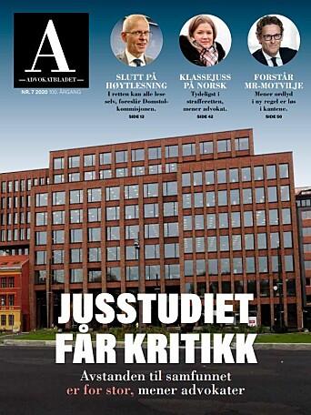Advokatbladet skrev en omfattende artikkelserie om juristutdanningen i fjor. Trykk på bildet om du vil lese!