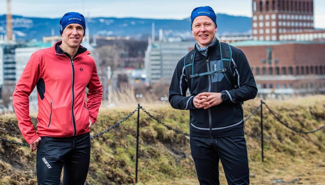 Mads Kaggestad og Frank Aase ser frem til å samarbeide om fysisk aktivitet.