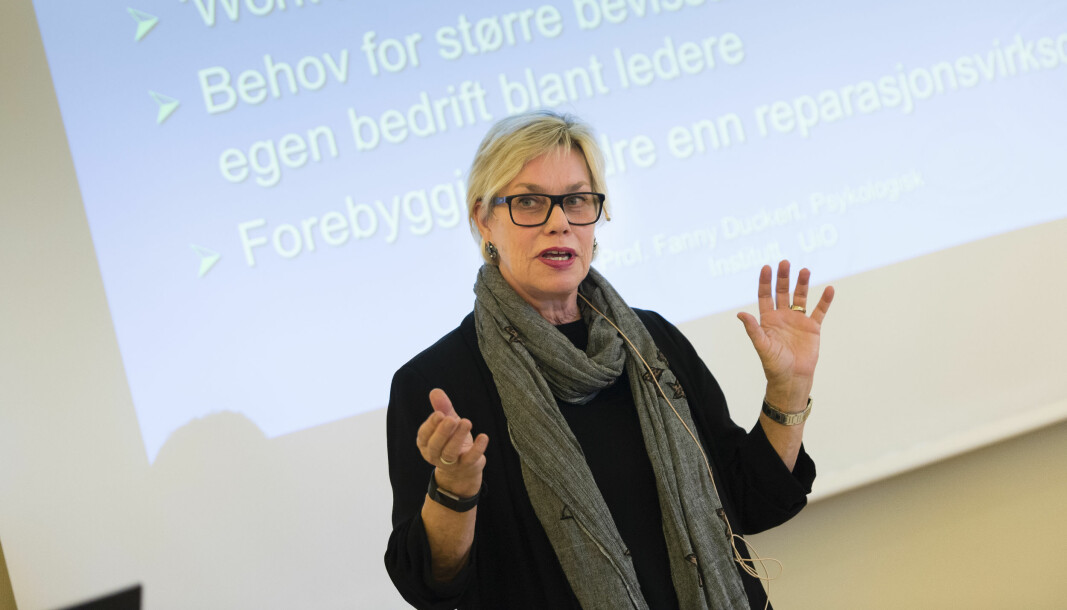 Fanny Duckert tror ikke norsk arbeidsliv nødvendigvis blir mer mangfoldig ved å sløyfe alkohol.