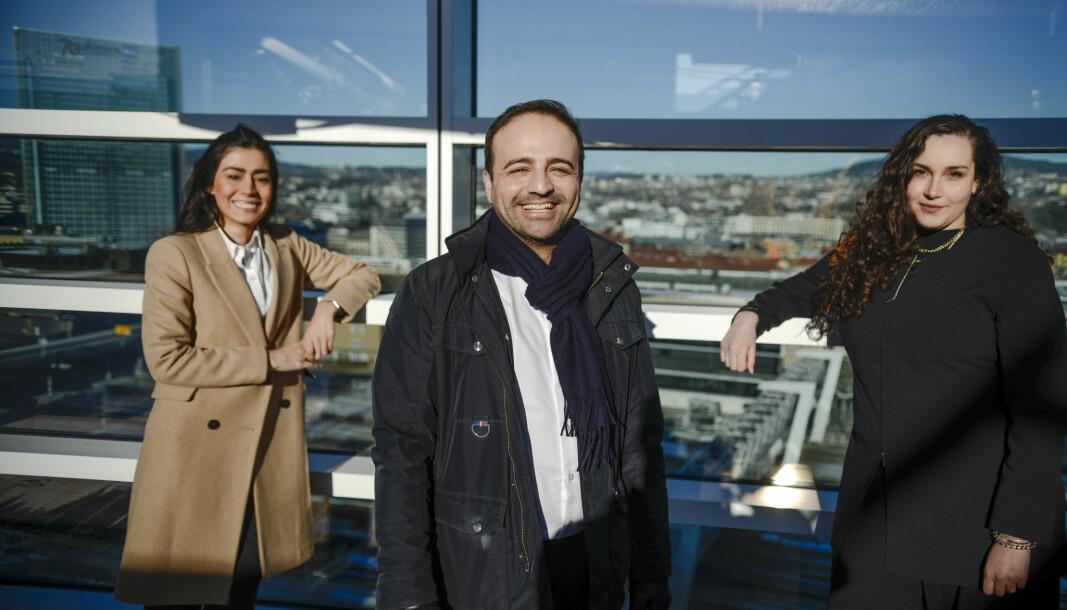 Elif Demirbas, Ali Reza Afshar og Linn W.F. Nikkerud i Advokatfirmaet Auxilium.