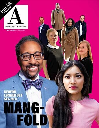Advokatbladets februarutgave hadde tema mangfold i advokatbransjen.