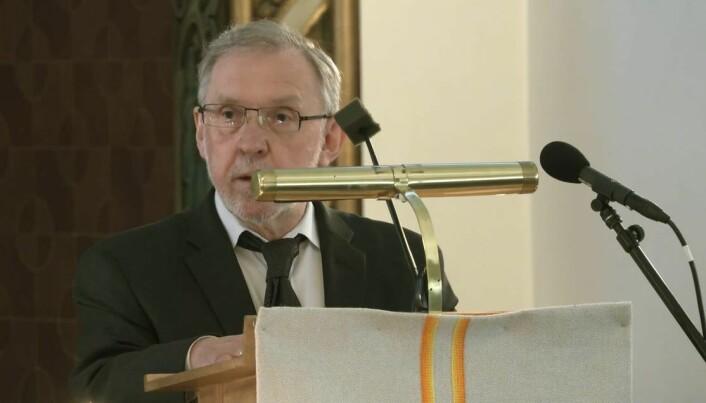 Harald Stanghelle talte i kirken.