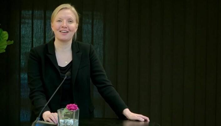 Grette-partner Marie Braadland var ordstyrer.