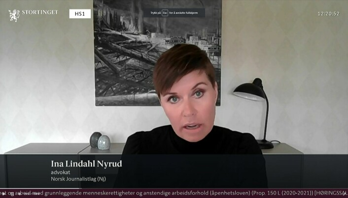 Advokat Ina Lindahl Nyrud.