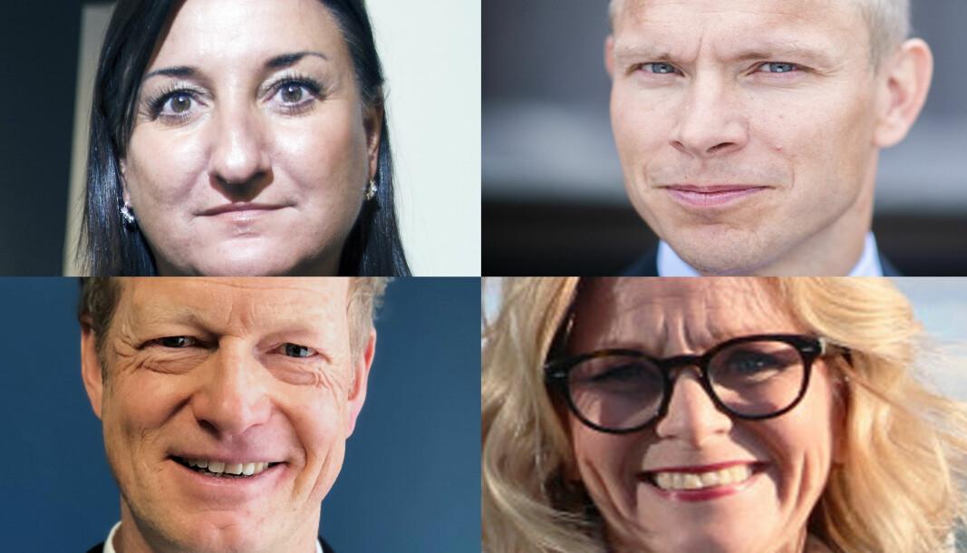 Haavind-direktør Dyveke Hamza, Thommessen-mp Sverre Tyrhaug, Hjort-direktør Christopher Helgeby og COO i Bull & Co, Tine E. Wærsten.