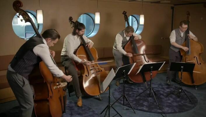 Oslo fat string quartet kunne by på The Beatles-klassikeren Come together før fagstart.