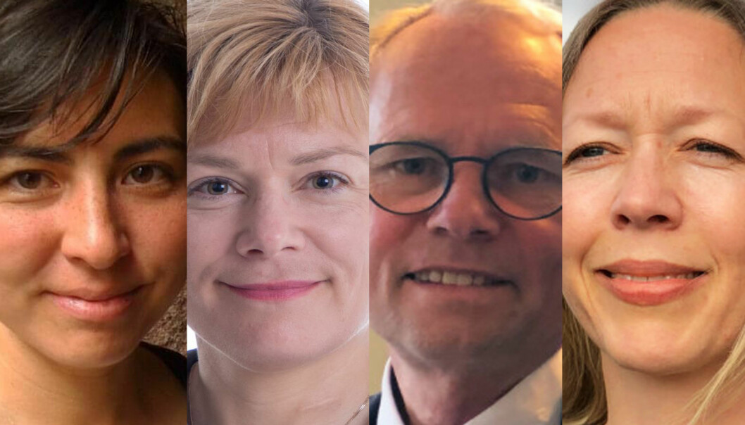 Mona Naomi Lintvedt, Anna Nylund, Hans Petter Graver og Kristin Bergtora Sandvik.