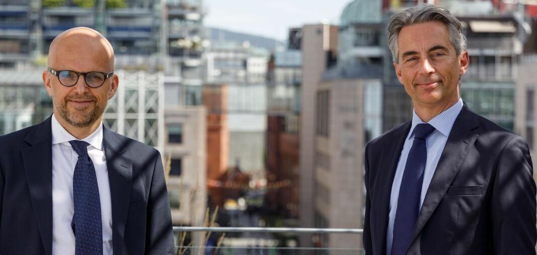 Juridisk visedirektør i Equinor Knut Høivik og partner i Selmer, Thomas Brandi.