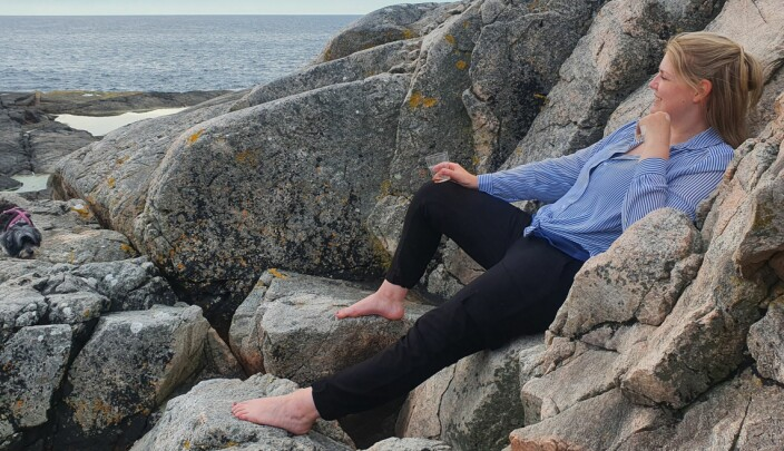 Katrine Holter ved Øygarden utenfor Bergen.