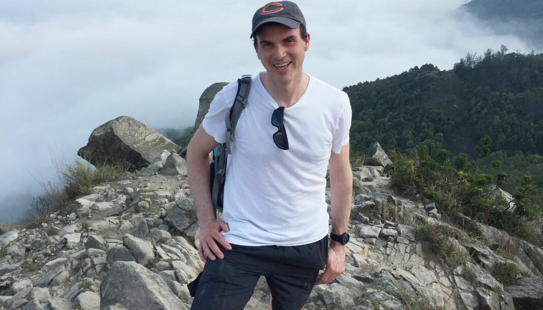 Guy Leonard setter stor pris på den norske naturen, og tilbringer deler av sommerferien på Vestlandet.