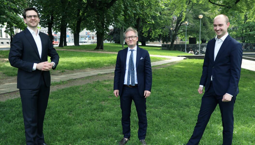Andreas Nordby, Jan Olav Aabø og Eivind Landmark Tandrevold ser frem til å ta i bruk systemet på flere tvistesaker.