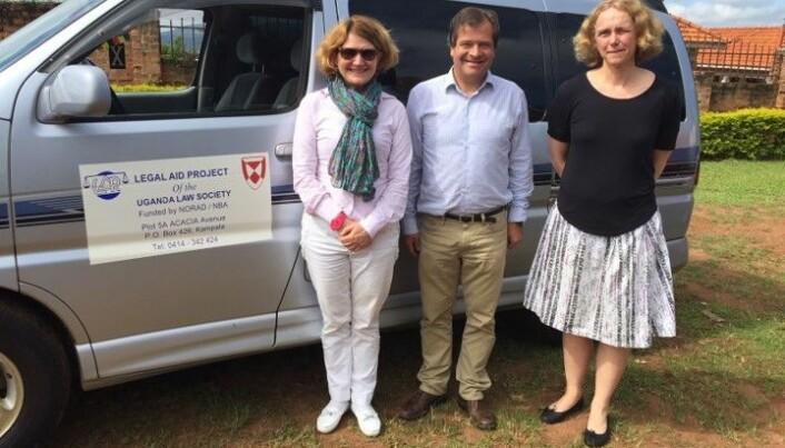 Susanne Munch Thore, Paal-Henrich Berle og Kjersti Hasfjord i Uganda.