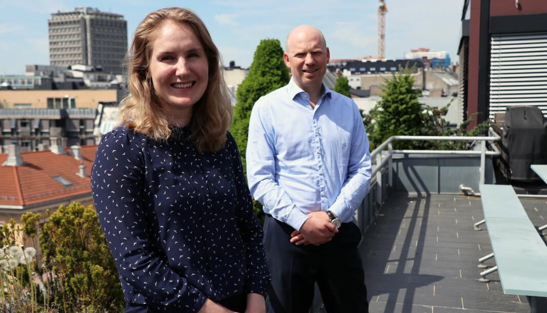 Glittertinds klimautslipp gikk betydelig ned fra 2019 til 2020, ifølge firmaets klimaregnskap. Her Dagny Ås Hovind og Aron Solheim.