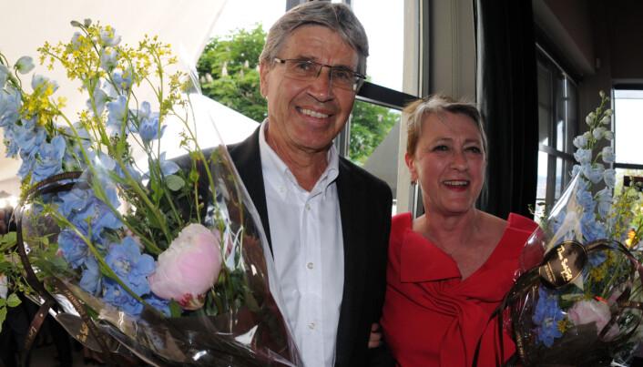 Berit Reiss-Andersen har i en årrekke hatt ulike tillitsverv i Advokatforeningen, og ledet foreningen fra 2008 til 2012. Her med etterfølgeren Erik Keiserud under Advokatfesten i 2012.
