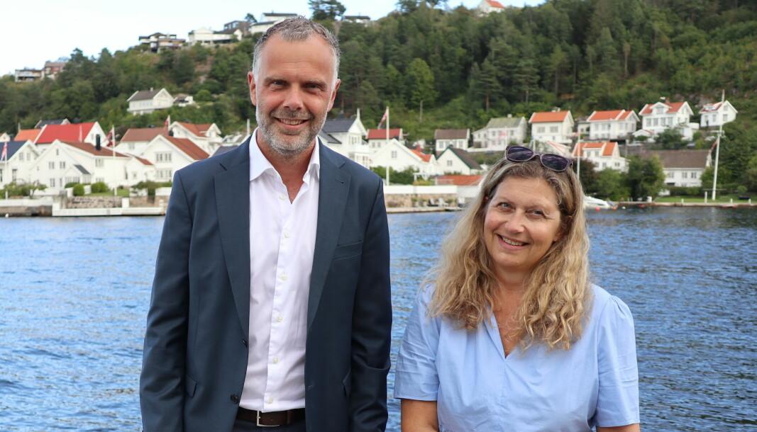 Kristian Brandt og Liv Zimmermann er partnere i Hjort og på plass under Arendalsuka.