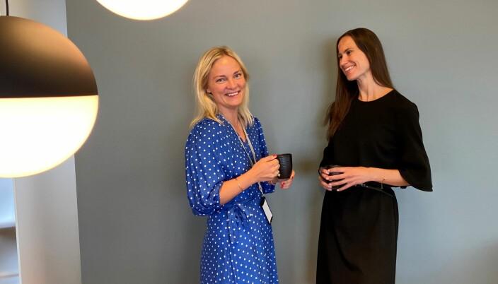 Bjaaland tror at en større grad av personlig tilrettelegging også vil kunne bidra til at flere kvinner ønsker seg inn i lederposisjoner. Her sammen med Solfrid Aga, som fikk opprykk til partner i Grette før sommeren.
