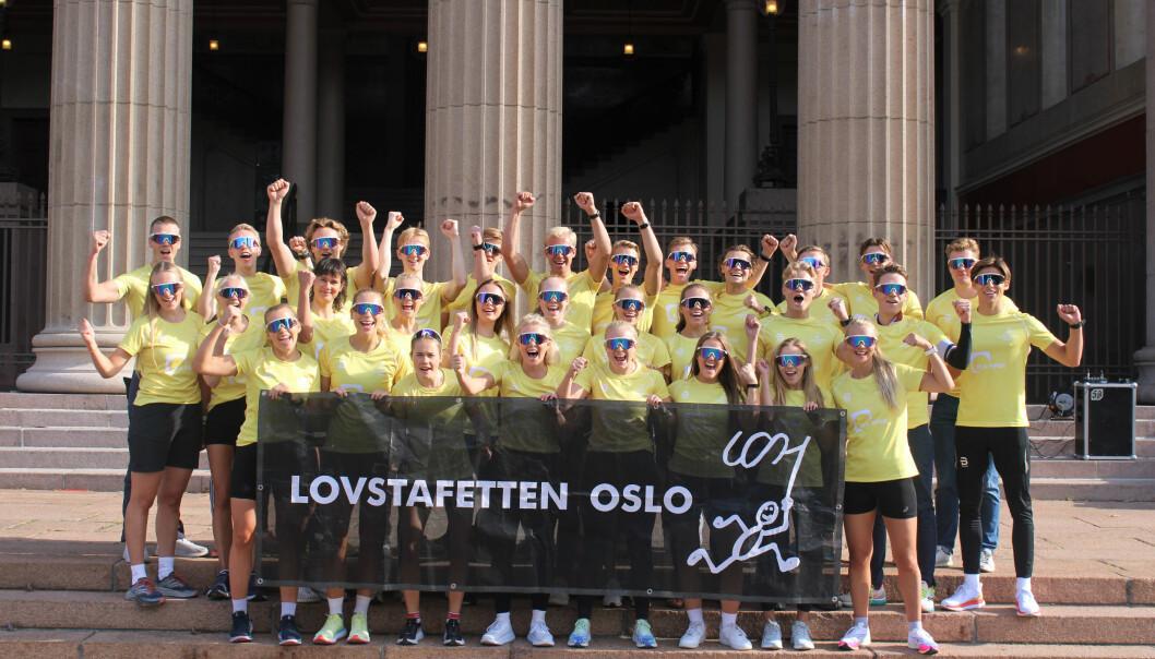 Jusstudenter i Oslo gjør seg klar for å legge ned mange kilometere i Oslos gater førstkommende lørdag. Her i forbindelse med Lovstafetten tidligere i år.