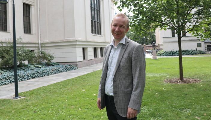 Ved Det juridiske fakultet i Oslo.