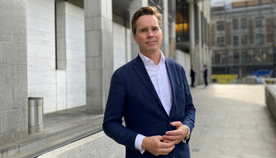 Advokat Marius Dietrichson foran Oslo tingrett.