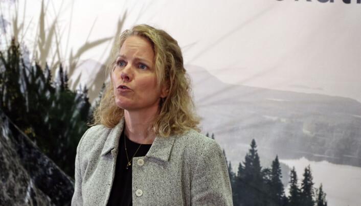 Nina Schefte på Konsernadvokatseminaret.