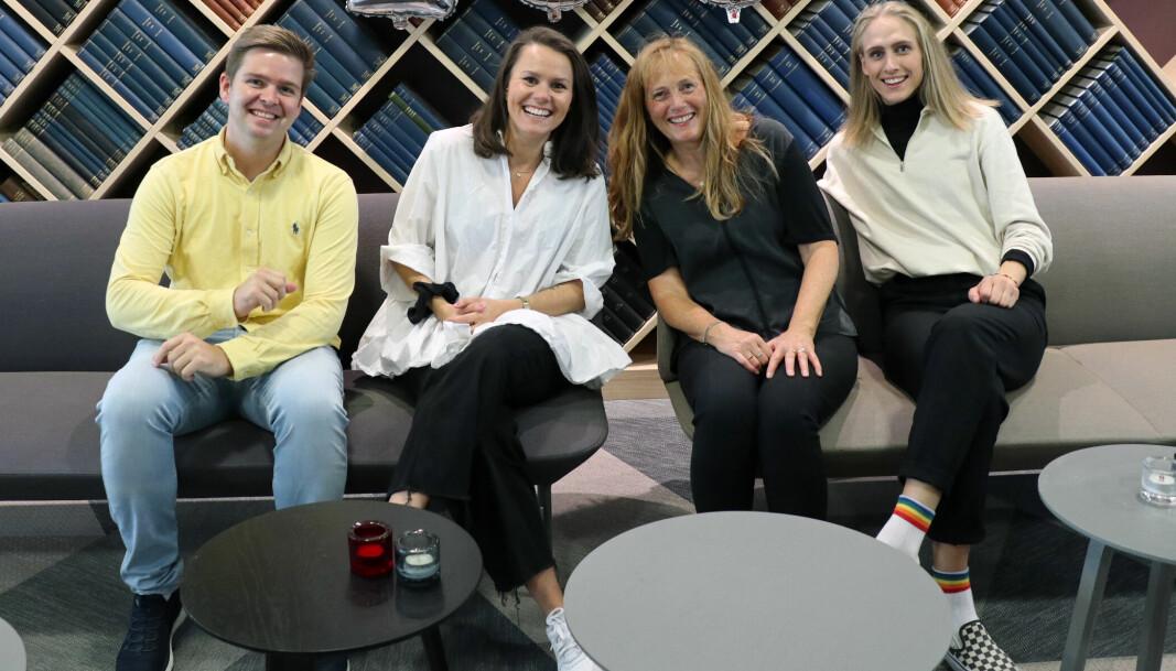 Henrik Skjevestad, Thea N. Dahl (i foreldrepermisjon), Nina Schmidt og Kari Hegstad utgjør redaksjonen i Advokatbladet.